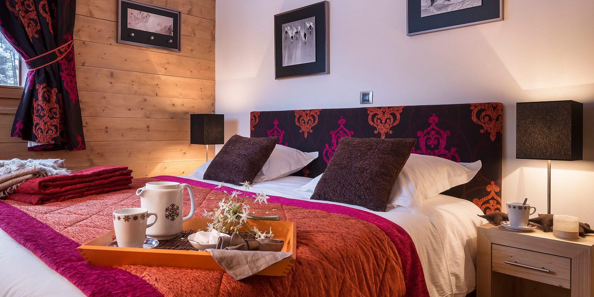 CGH Kalinda Tignes Les Boisses Tignes-Val d'Isere Frankrijk wintersport skivakantie luxe appartement slaapkamer 2-persoonsbed heerlijk slapen ontspannen vakantie gezin