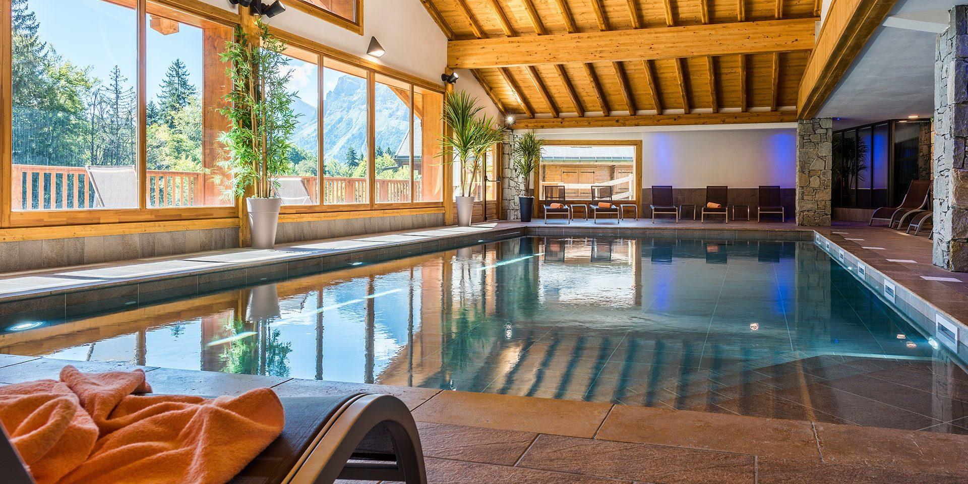 CGH Les Chalets de Leana Les Carroz Le Grand Massif Frankrijk wintersport skivakantie luxe Spa wellness zwembad zwemmen ontspannen relaxen bijkomen