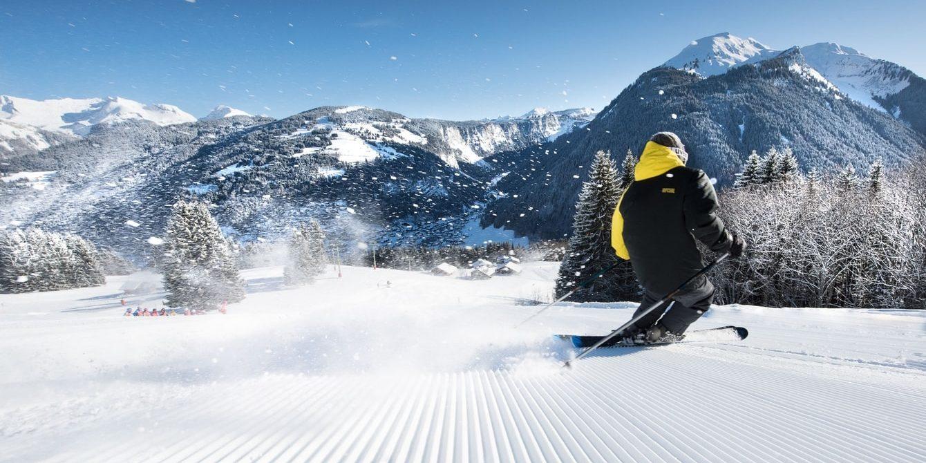 Morzine Les Portes du Soleil Frankrijk wintersport skivakantie luxe skier sneeuw bergen bomen